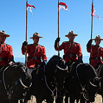RCMP mounties on their horses